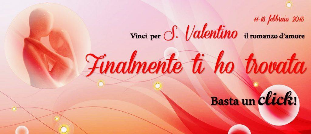 """Banner Vici per S.Valentino il romanzo d'amore """"Finalmente ti ho trovato"""""""