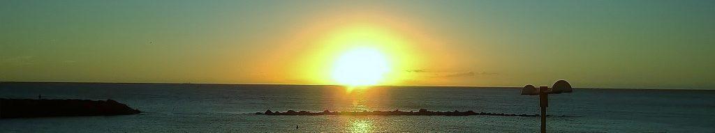 panorama dall'isola al tramonto