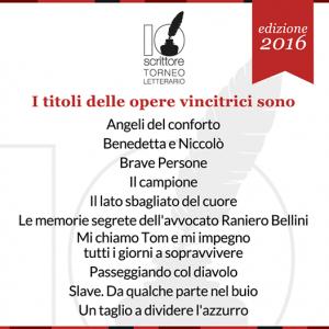 Titoli opere vincitrivi 2016